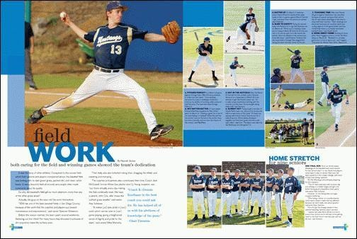 yearbook spread-color on top, white on bottom