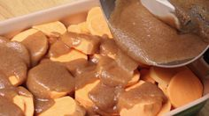 Southern Baked Candied Yams  --- This sounds tasty!  I've been looking for a better candied yam recipe for this Thanksgiving.