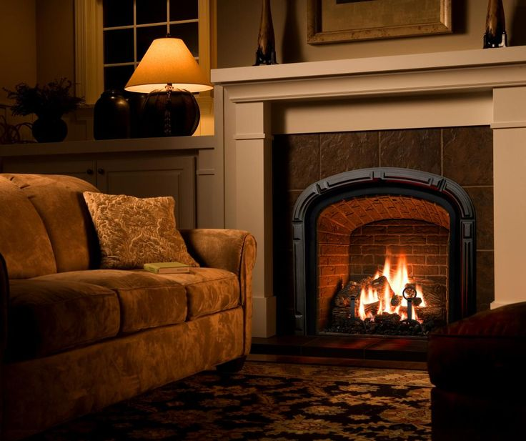 Mendota Hearth Fireplace With Brick Background Greenbriar