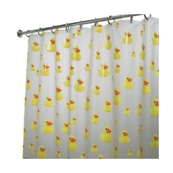 kids bathroom - InterDesign Ducks Shower Curtain - Yellow. I already have this curtain.