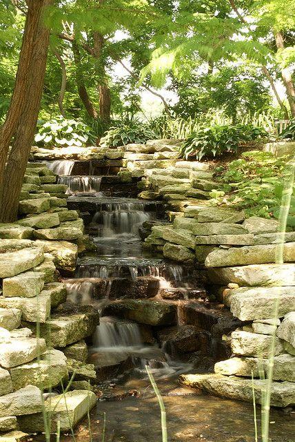 Lauritzen Botanical Garden in Omaha, Nebraska. Photo: Waterfall, by Jonathan Moreau, via Flickr.