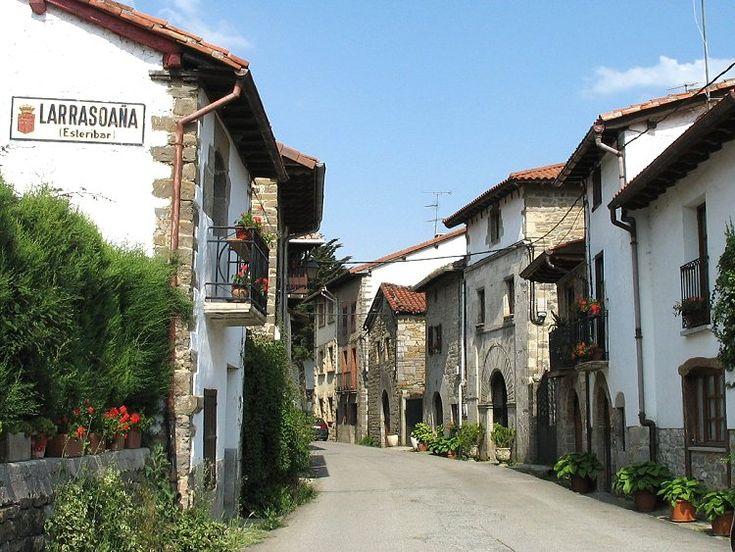 Calle de Larrasoaña, Navarra, Camino de Santiago