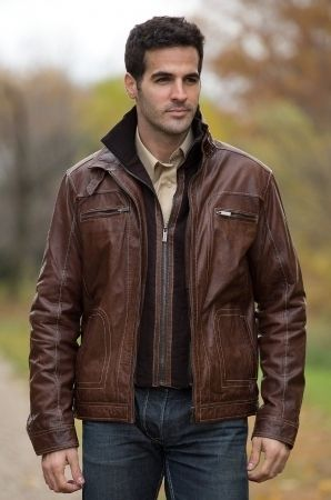 Most Popular Brown Leather Bomber Jackets For Men Trends