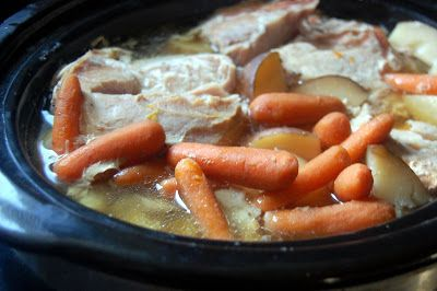 Cassie Craves: Crock Pot Pork Roast with Potatoes and Carrots