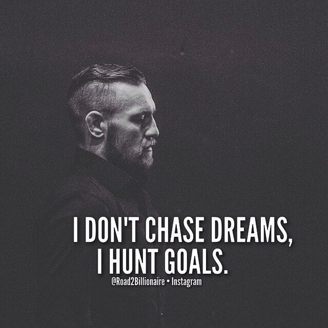 I visualize and I execute. @thenotoriousmma #Legend