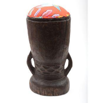 Ardmore Ceramics Batonka Stools: Stompa Stool in Bird Crossing