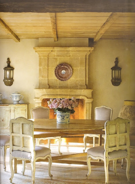 17 best ideas about french country dining on pinterest for French country stone fireplace