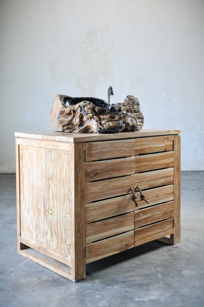 Мебель для ванной под одну раковину, тумба,  дерево тик, ручки ротанг, мебель Индонезии, о. Бали. Furniture for bathroom, grand bath washstand for one sink, solid teak wood, rattan handles, Indonesia, Bali