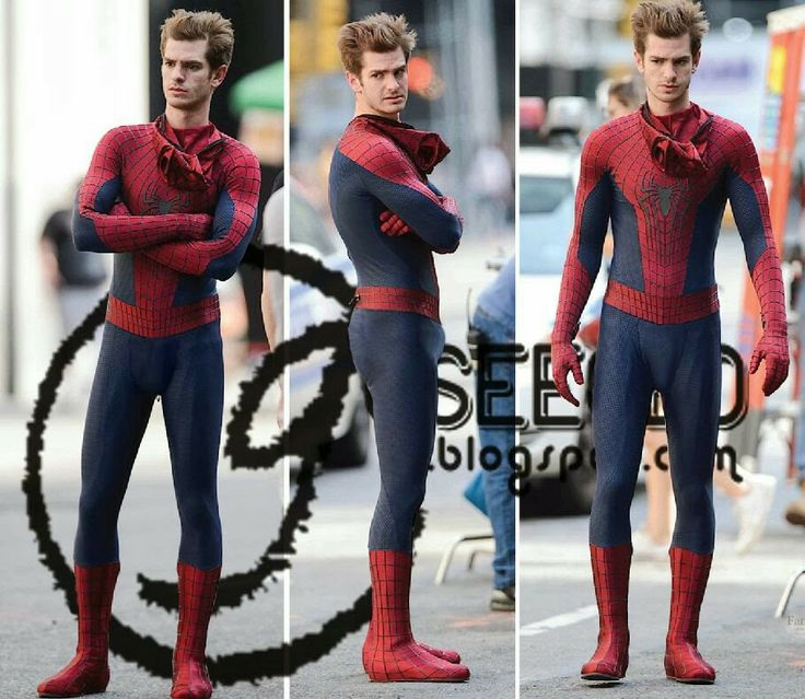 Spider-bulge (Andrew Garfield)   Peek-a-boo! I see you