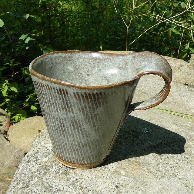 blue corrugated slab mug | Flickr - Photo Sharing! Meg Conner https://www.flickr.com/photos/60788221@N00/