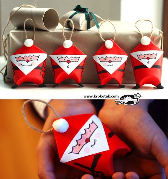DIY CRAFT **Toilet paper rolls** The more toilet roll christmas santas, the better I say!