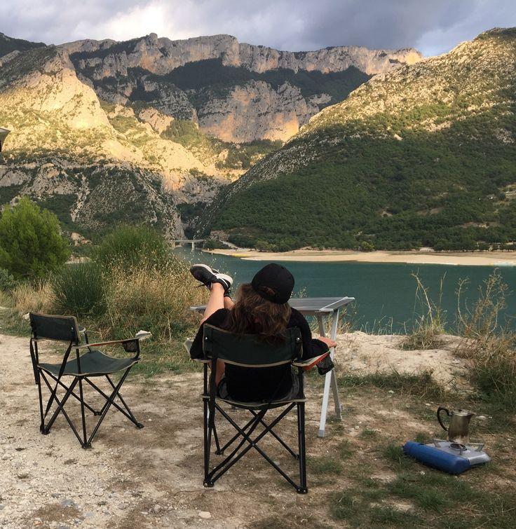 Tea time avant l'orage sur le lac de sainte croix