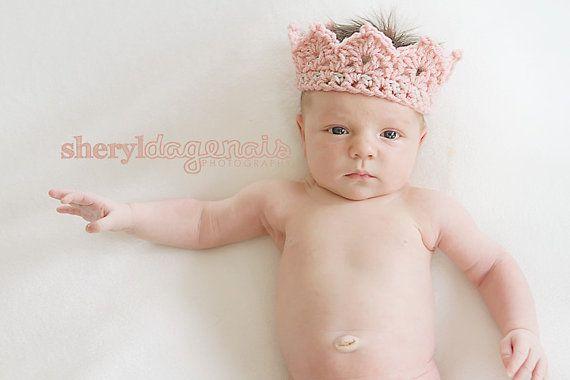 Muster - Prinzessin oder Prinz Gehäkelte Krone Neugeborenen Muster 002 - große Fotografie Prop HÄKELANL... auf Etsy, 3,01€