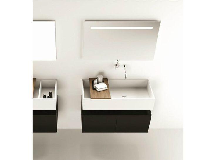 Doppel- Hänge- Waschbecken aus Corian® CANASTA 2 Kollektion Canasta by MOMA Design by Archiplast
