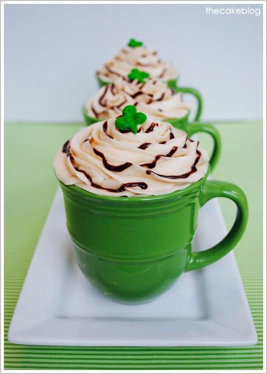 Irish Coffee cupcakes: Coff Cupcake Recipe, Half Baking, Saint Patrick'S, Cupcake Recipes, Cakes Blog, Happy St., Coffee Cupcakes, St. Patrick'S, Irish Coffee