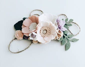 Anemone Floral Crown // Felt Flower Crown // Felt Floral //