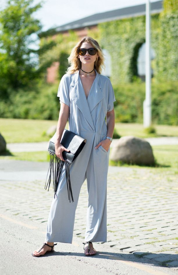 Model Hana J in By Malene Birger Umpio jumpsuit
