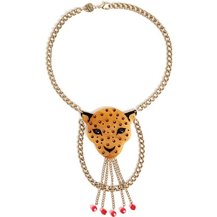 TATTY DEVINE Leopard head large necklace