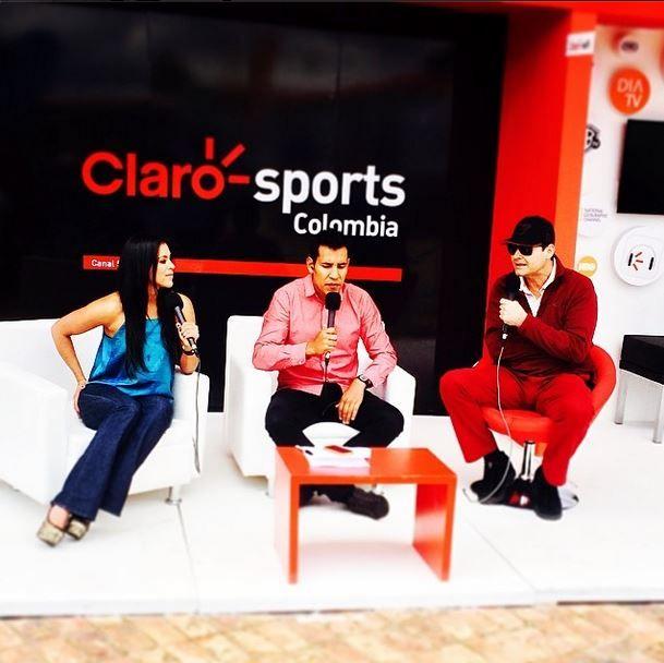 Desde Club el Rancho con #clarosports al aire junto a mi amigo @camiloporrast y #DaniloSantos @Canal_versus