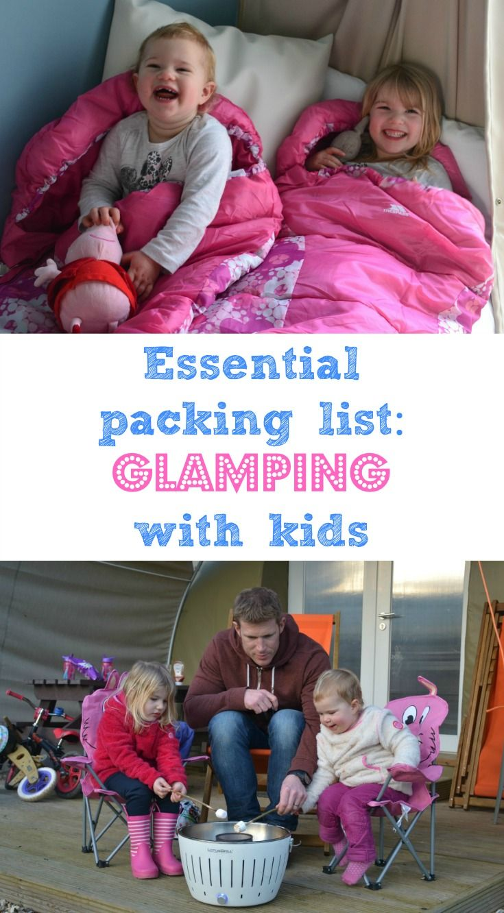 If you're a fair weather camper then glamping is the way forward. Here's packing list of things we recommend you pack as standard when glamping with kids