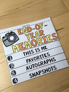 ***FREEBIE*** Celebrate the end of the school year with the End-of-Year Memory Flip Book!