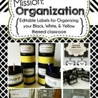 With the new school year approaching, organization is the mission! This pack of black, white, and *a hint* of yellow labels will help you stay orga...