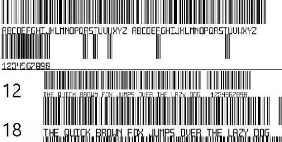 Font Barcode Free Download - Another barcode font (TrueType)