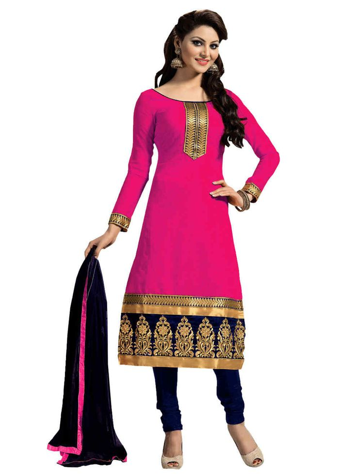 Melluha Rani Chanderi Dress Material