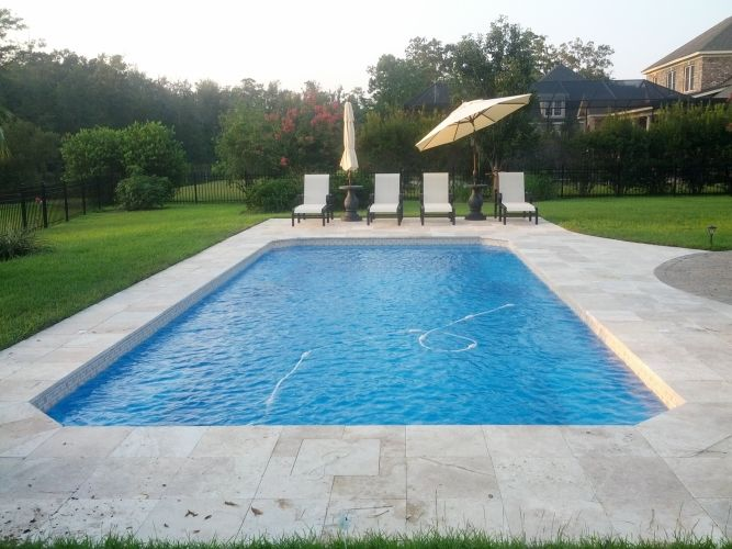 Malibu style fiberglass inground pool luxury pools and for Inground swimming pools sale