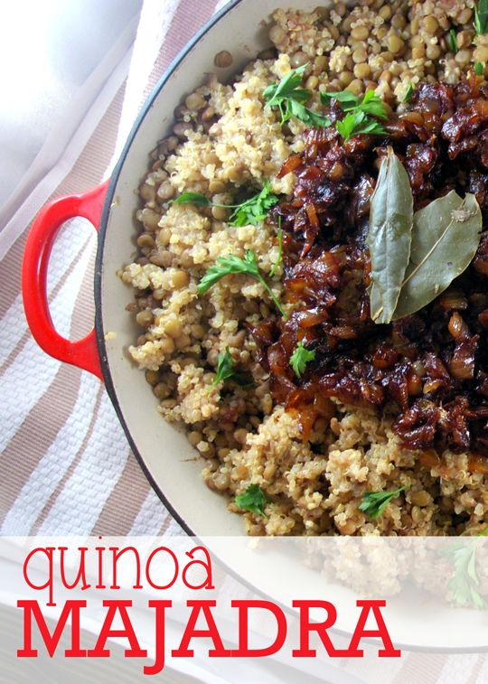 Quinoa Majadra and Bob's Red Mill #Giveaway