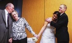 Bouquet & Garter Toss Alternatives - Passing the Bouquet to the couple married longest