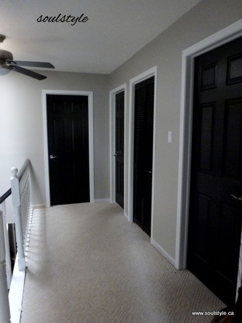 Tgis Is Our House Black Doors Paint All Trim White And Then Walls Revere Pewter Love