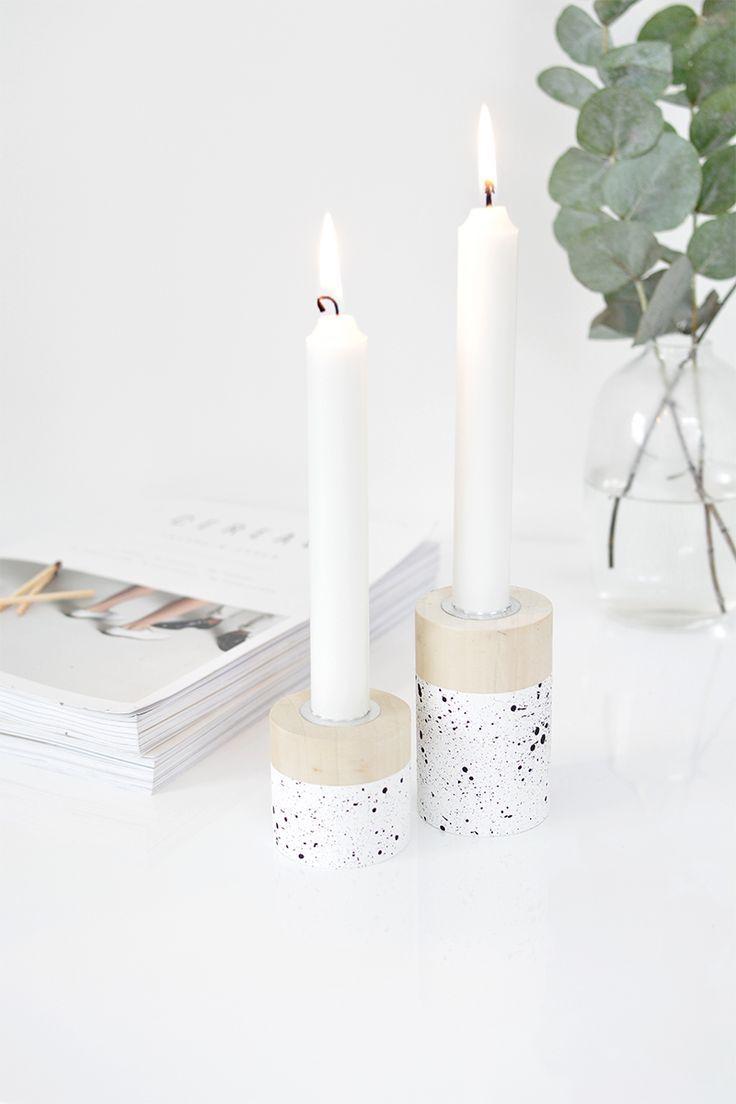 DIY speckled candle holder   www.homeology.co.za