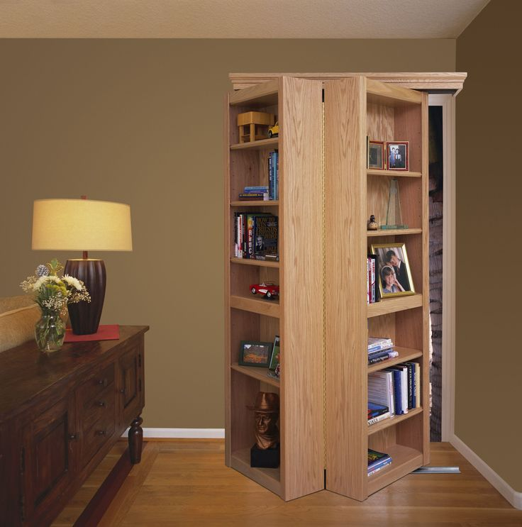 16 best images about bookcase doors on pinterest for Bookcase closet