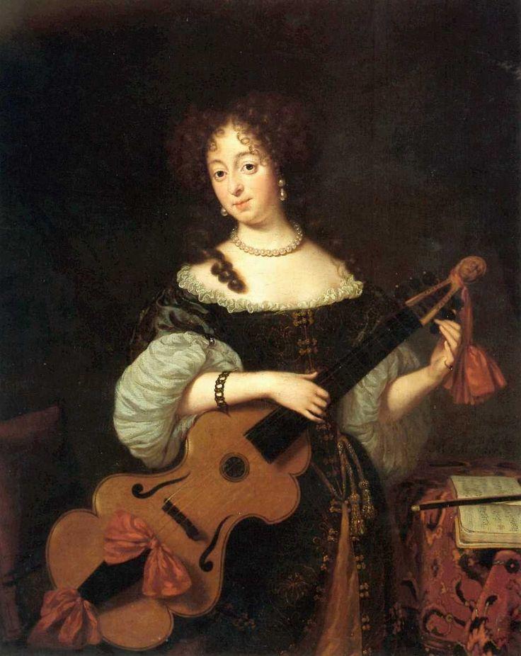 Michiel van Musscher (1645-1705) - Woman with a Viola de Gamba, c.1675-1680, Museum Briner und Kern, Winterthur, Switzerland