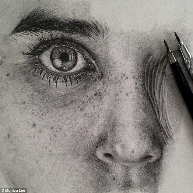 Captivating: Artist Monica Lee uses graphite pencils and smudging tools to produce complex...