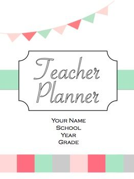 Teacher Planner July 2014-June 2015 [EDITABLE] Sleek design with 106 pages of monthly AND weekly calendars plus many more  forms to keep teachers organized!