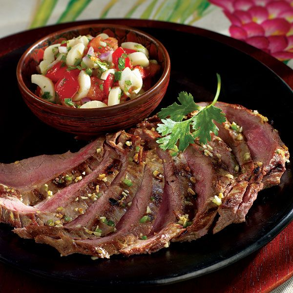 Barbecued meats (churrasco) are served in churrascarias, Brazilian barbecued-meat restaurants, with a salsa-like sauce as an accompaniment. Since hearts of palm show up at every salad bar in these restaurants, we've added them to the sauce to give it a tasty twist.
