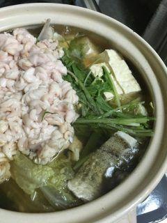 北海道の冬の楽しみ鱈鍋鱈鍋だけどメインはたち(たら白子)  たちを食べると冬を感じる tags[北海道]