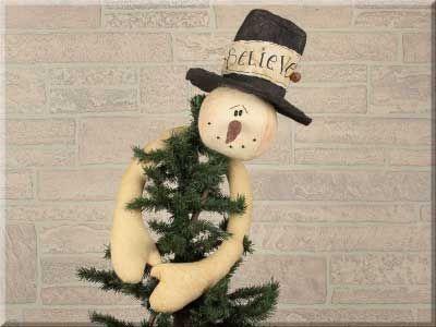 C484 Believe Snowman Tree Topper