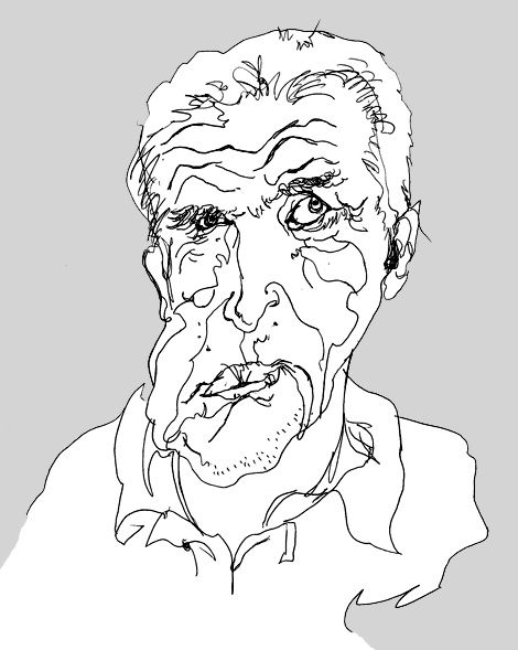 Contour Line Drawing Jio : Inkfinger sutter non comics semi blind contour line