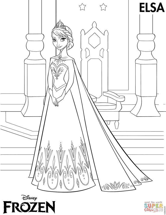Elsa Coronation Coloring Page Frozen Coloring Pages Elsa Coloring Pages Elsa Coloring