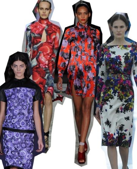Florals. London Fashion Week trends autumn/winter 2012