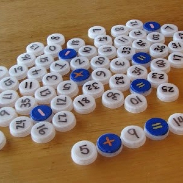 bottle caps sorting activity classroom pinterest