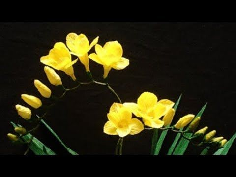 ABC TV | How To Make Freesia Paper Flower From Crepe Paper - Craft Tutorial - YouTube