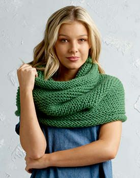 Free Knitting Pattern for a Shiver Cowl.