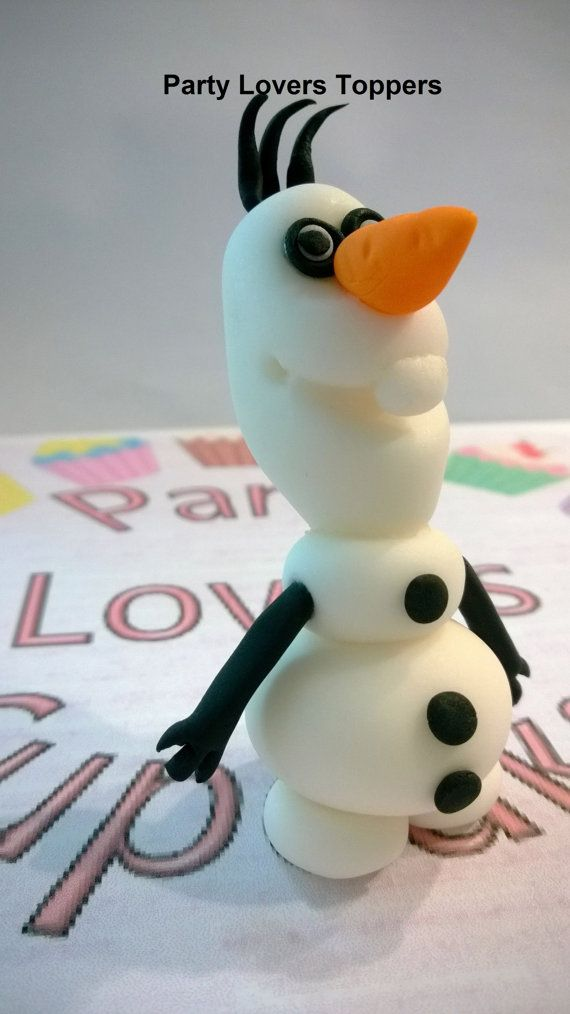 Olaf Frozen 3D Fondant Cupcake Topper 6 Unit by PartyLoversToppers, $27.00