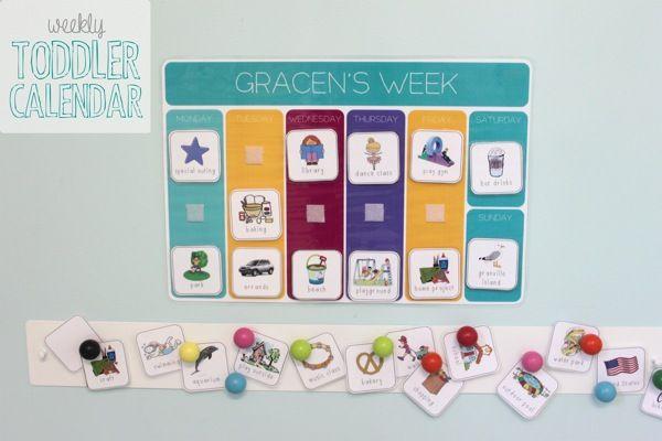 Miss G's Weekly Toddler Calendar - Mama. Papa. Bubba.Mama. Papa. Bubba.