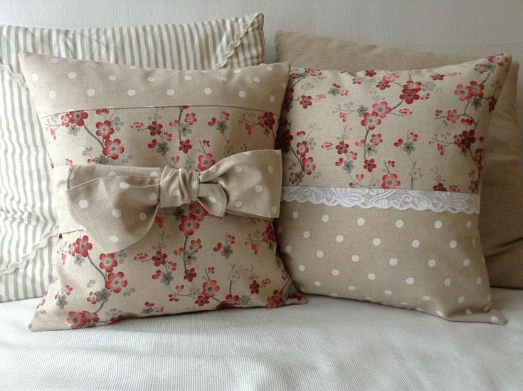 country chic   Country chic bow cushion cover