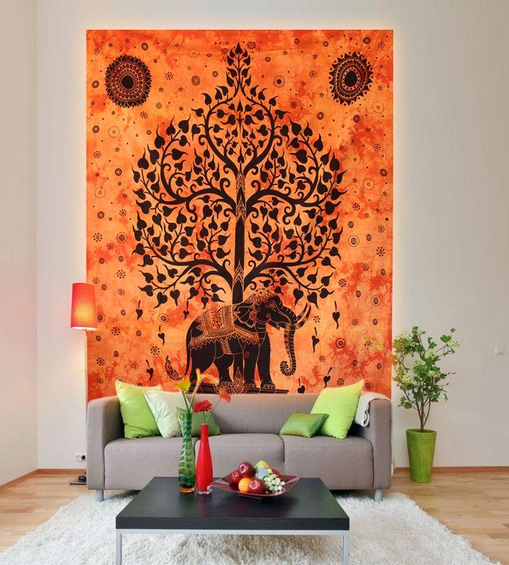 Buy elephant tapestry online on handicrunch. #elephanttapestry #animaltapestry #walltapestry #homedecor #walldecor